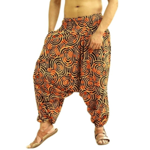 pantalon ethnique ample jaune boho