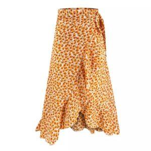 jupe ethnique porte-feuille tournesol chic