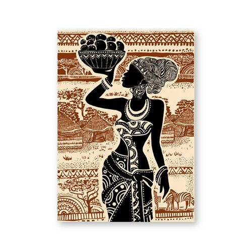 Tableau ethnique africain abstrait chic