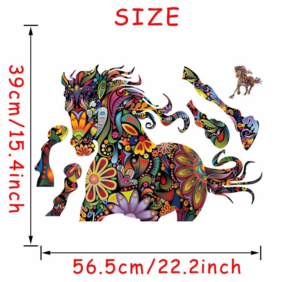 Stickerethniquemurale cheval boheme