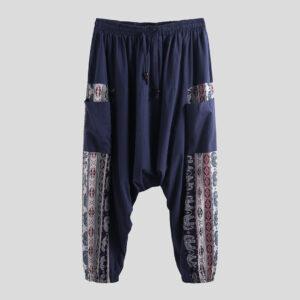 pantalon ethnique tribal bleu boho