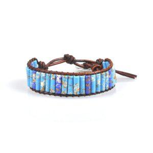 bracelet ethnique pierre bleue chic