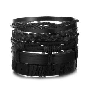 bracelet ethnique homme noir chic