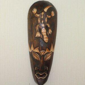 Masque ethnique bois massifFria chic