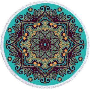 Serviette-de-bain-femme-Mandala-g-om-trique-Ronde-glands-serviette-de-plage-boh-me-microfibre (6)
