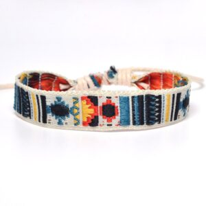 Bracelet ethnique tissu chic boho