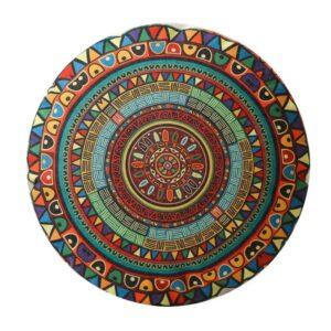 pouf ethnique mandala art chic
