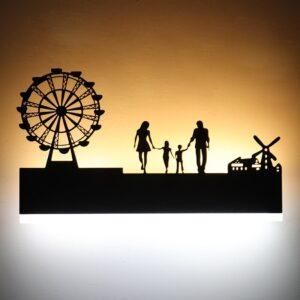 Applique murale ethnique grande roue chic