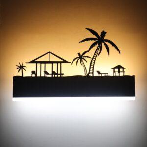 Applique murale ethnique palmier boho