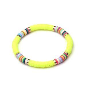 Bracelet ethnique argile fluo chic