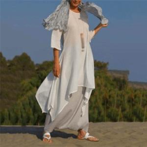 robe ethnique blanche