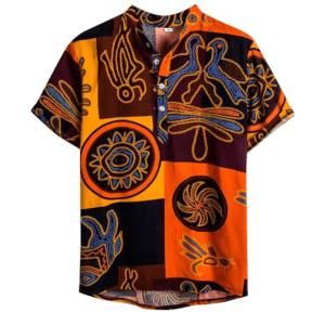 Chemise ethnique hawaïenne Aiea boheme