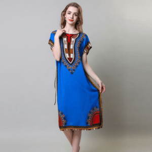 Robe ethnique bleu