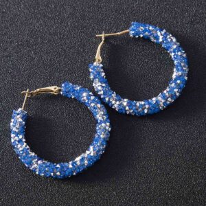 boucles d'oreillesethnique bleu boheme