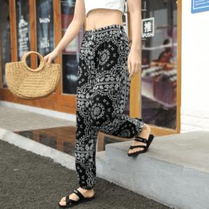 Pantalon ethnique bohème rétro chic