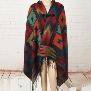 Poncho ethnique bohème babacool chic