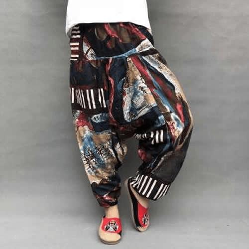 pantalon bouffant ethnique femme