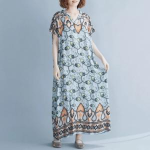 robe ethnique chic grande taille