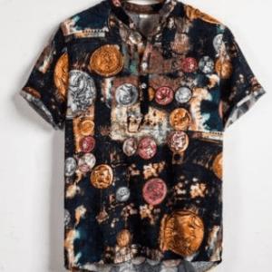 Chemise ethnique hawaïenne Kapolei boho