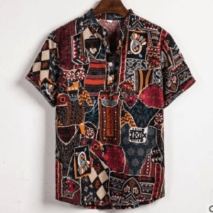 Chemise ethnique hawaïenne Lahaina boheme