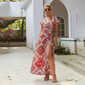 Robe coton imprimé ethnique