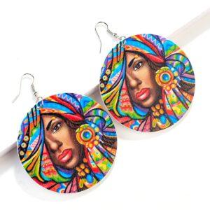 Boucle d'oreille ethnique africaine