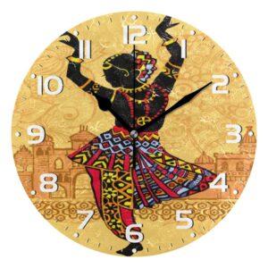 Horloge murale motif ethnique