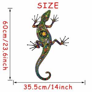 Stickerethniquemurale Gecko chic