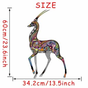 Stickerethniquemurale girafe chic