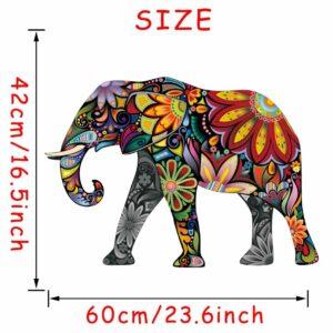Stickerethniquemurale éléphant chic