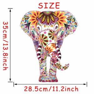 Stickerethniquemurale éléphantidé boheme