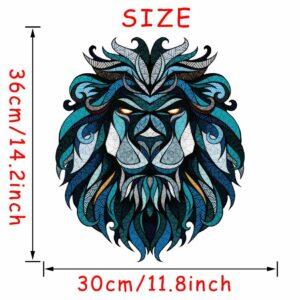 Stickerethniquemurale lion chic