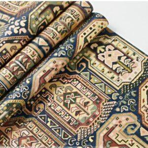Papier peint ethniquecarreaux traditionnel chic