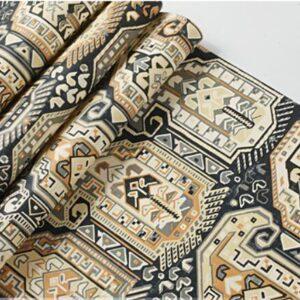 Papier peint ethniquecarreaux style chic