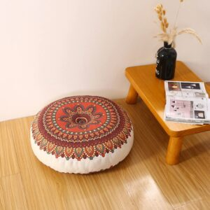 Pouf ethnique chinois Rouge chic