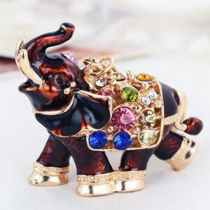 Porte-clé ethnique éléphant noir chic