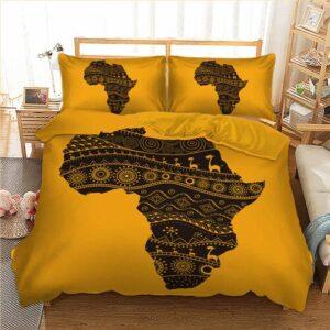 Housse de couette ethnique Afrique jaune chic