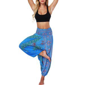 Pantalon ethnique hippie bleu chic