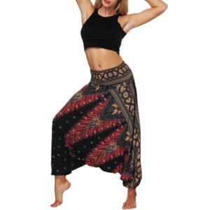 Pantalon ethnique hippie noir chic