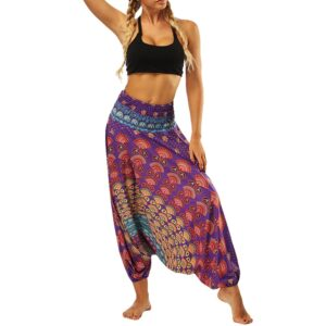 Pantalon ethnique hippie violet chic