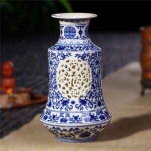 Vase ethniqueFujian bleu chic