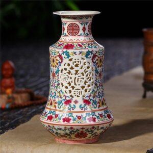 Vase ethniqueFujian rouge boheme