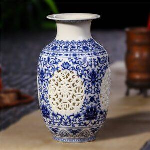 Vase ethniqueGuizhou bleu