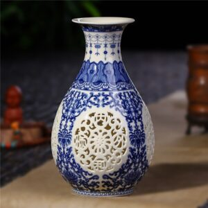 vase ethniqueGuilin bleu boheme