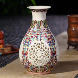 Vase ethniqueGuilin rouge chic