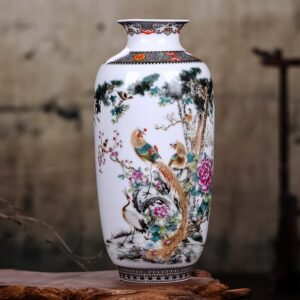 Vase ethnique chinois oisillon boheme