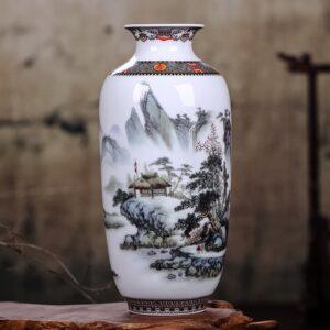Vase ethnique chinois brume chic