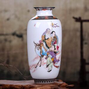 Vase ethnique chinois famille boheme