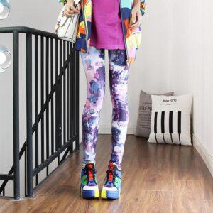 Legging ethnique violet chic