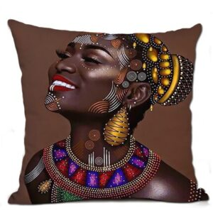 Housse de coussin ethnique Africaine Imani chic